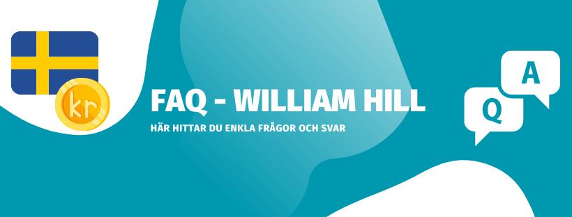 FAQ William Hill, vanliga frågor och svar om William Hill casino