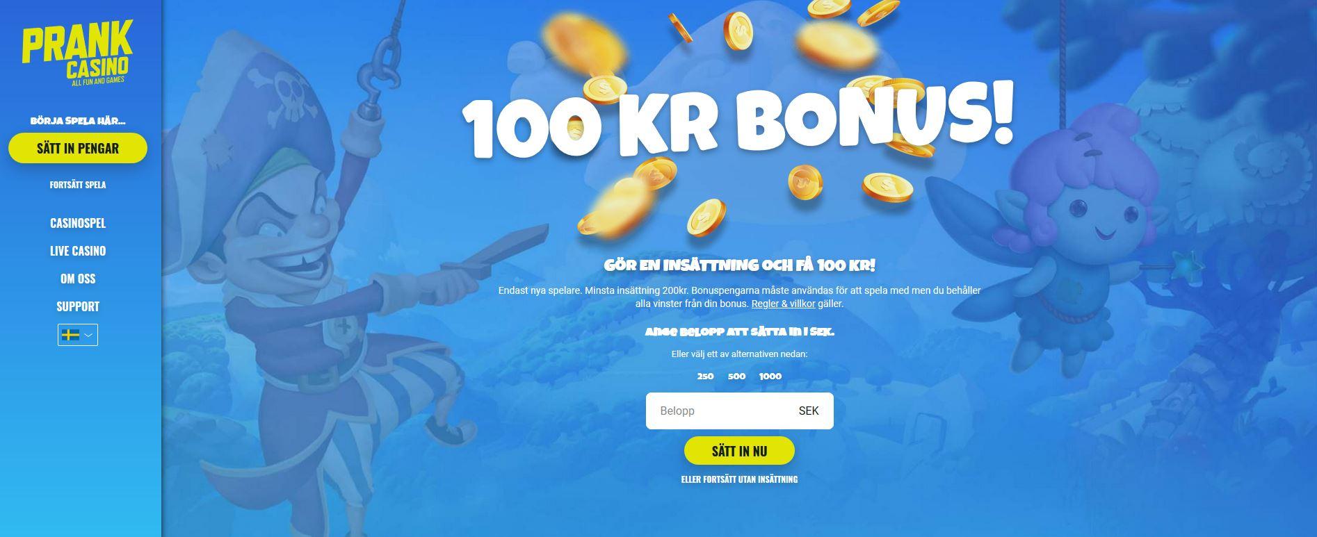 Prank Casino Recension 2021