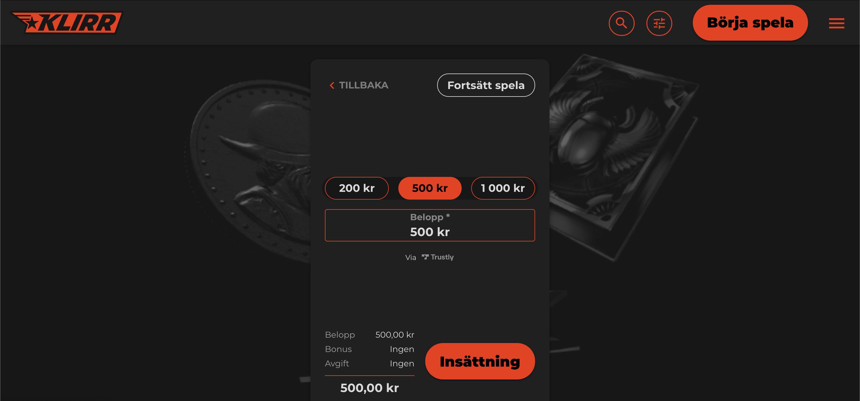 Förklarat insättning med Pay N Play Casino