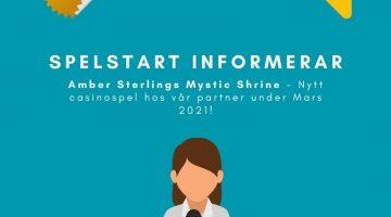Nytt casinospel hos No Account Bet och Prank Casino under Mars - Amber Sterlings Mystic Shrine