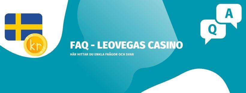 FAQ - vanliga frågor och svar om Leo casino