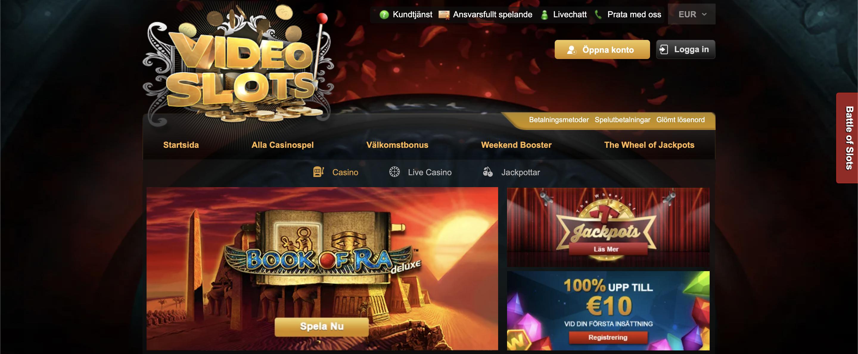 Videoslots casino recension 2021