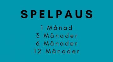 Spelpaus är en tjänst för dig som vill pausa ditt spelande under 1 Månad, 3 månader, 6 månader eller 12 månader åt gången.